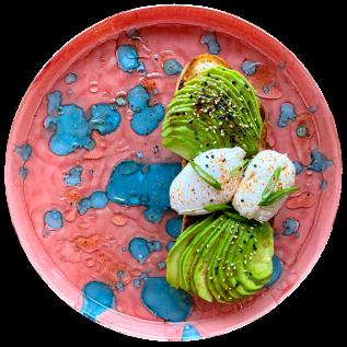 Брускетта з авокадо і яйцем