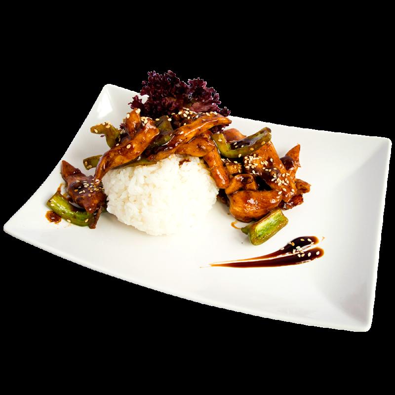 Рис з куркою теріякі