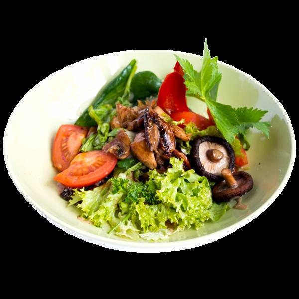 Салат з куркою і грибами шиітаке